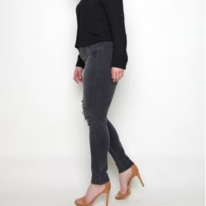James Jeans Skinny Leggy Slate Deconstructed Curvy